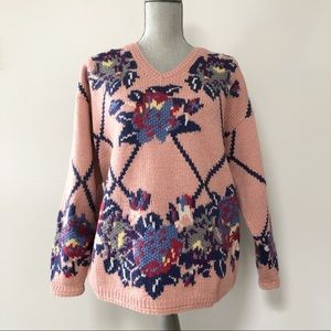 Vintage wool chunky knit sweater